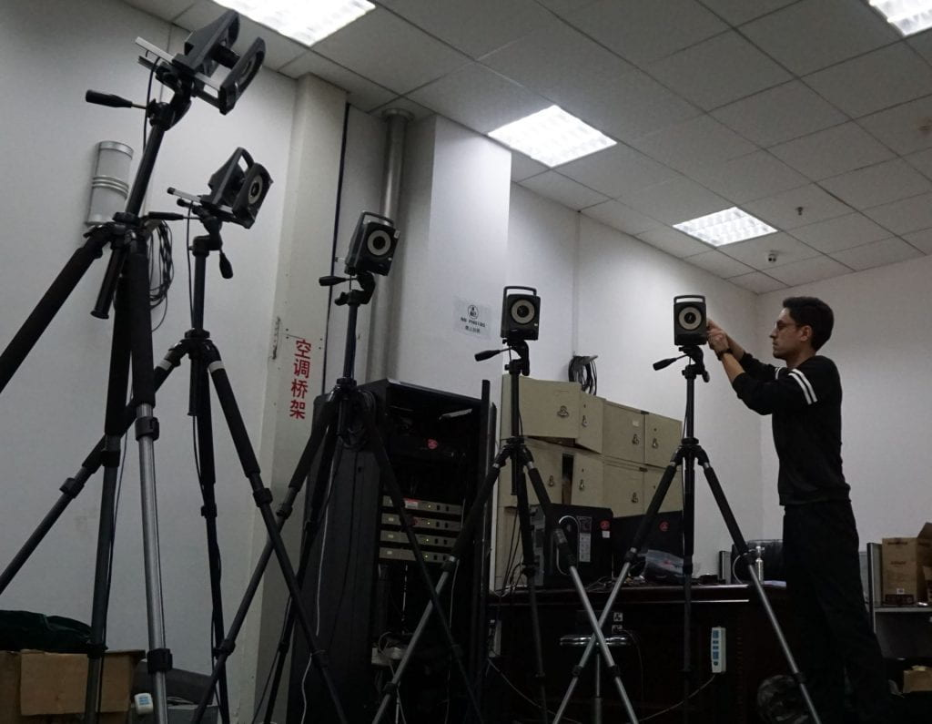 Vicon motion capture system consisting of MX-T160 and MX-T40s cameras