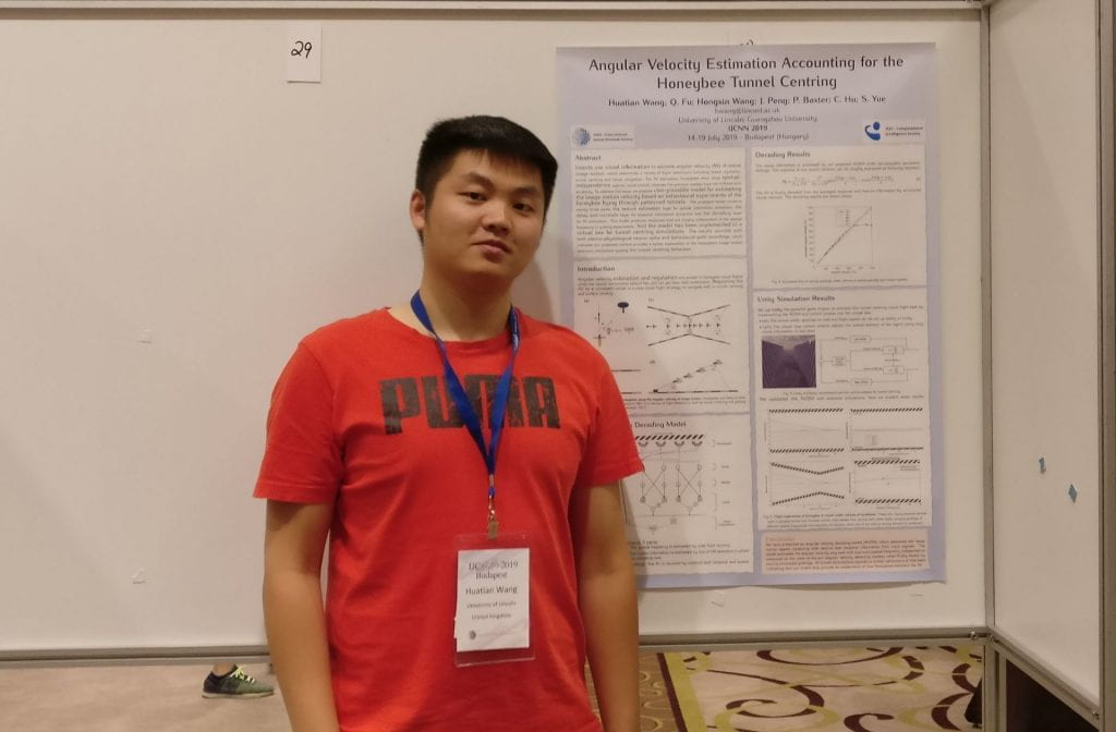 Hongxin Wang attending the International Joint Conference on Neural Networks (IJCNN) July 2019