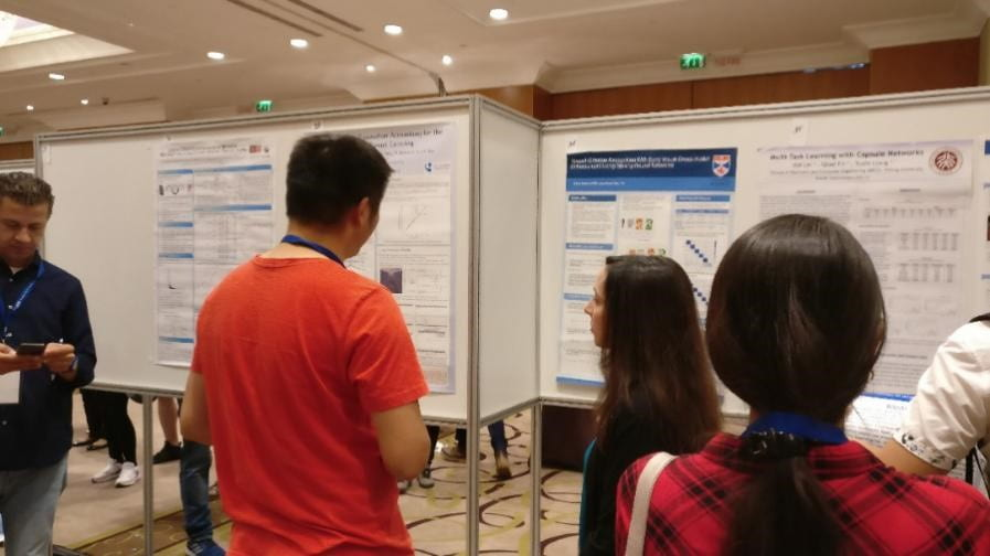 Huatian Wang attending the International Joint Conference on Neural Networks (IJCNN) July 2019