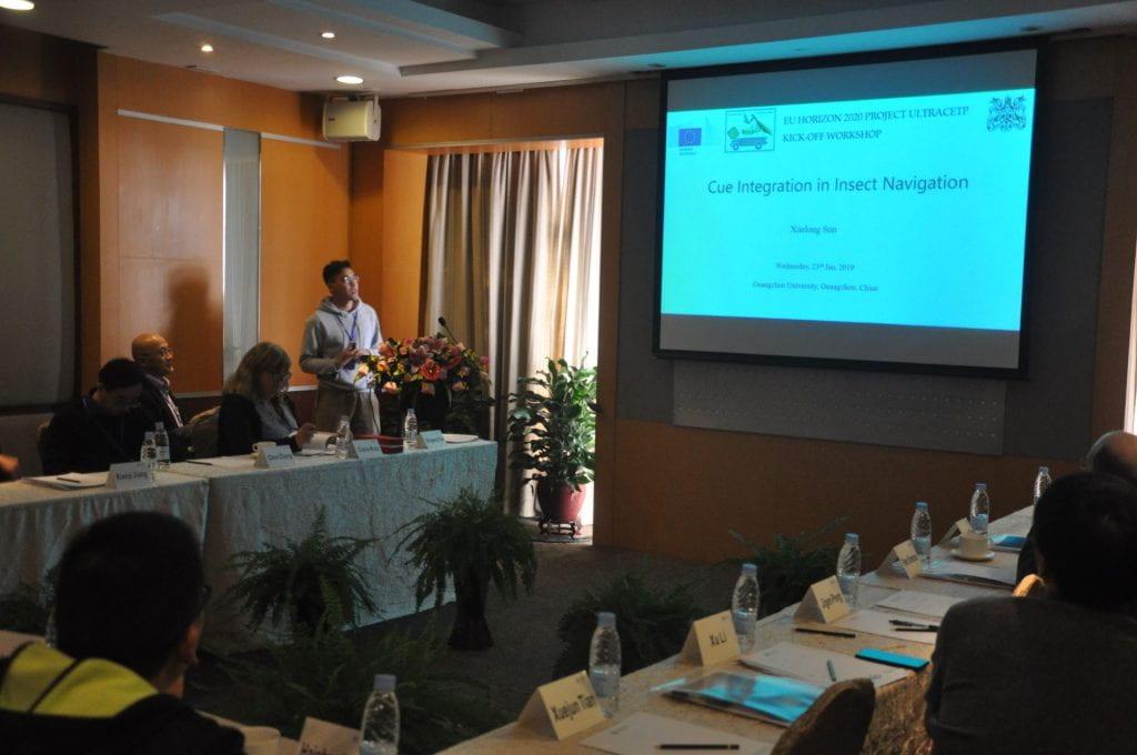 Xuelong Sun presenting at ULTRACEPT Kick off workshop