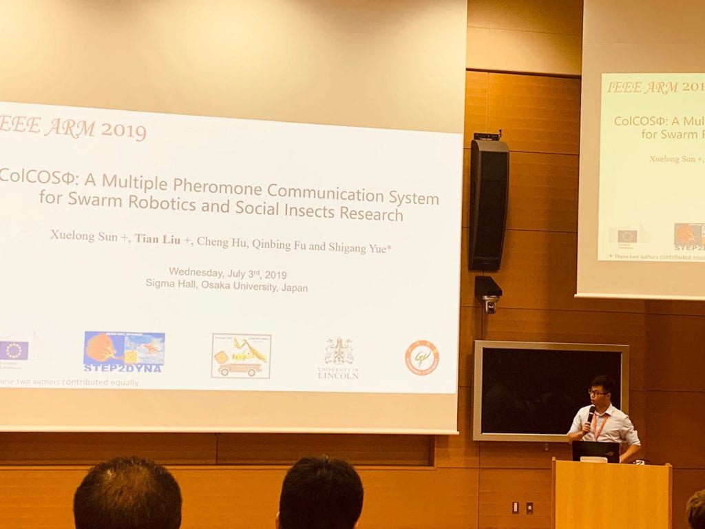 Tian Liu presenting at the IEEE 4th International Conference on Advanced Robotics and Mechatronics (ICARM) July 2019