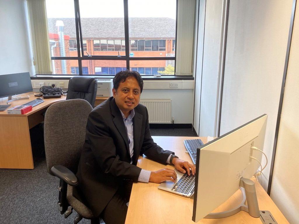Azreen Azman at Visomorphic Technology Ltd office