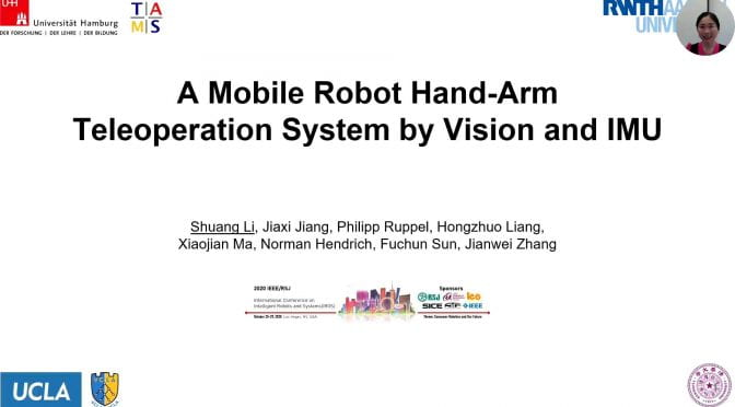 UHAM Researchers Present at the International Conference on Intelligent Robots and Systems