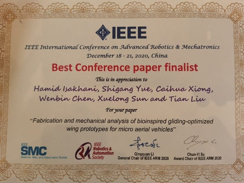 Best conference paper finalist at the IEEE ARM 2020 Conference