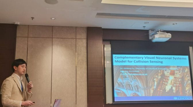 Qinbing Fu presents his research at the IEEE ARM 2020 Conference