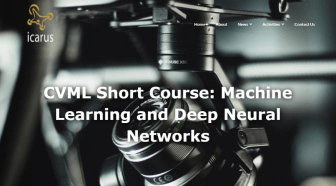 Nikolas Andreakos Attends CVML Short Course: Machine Learning and Deep Neural Networks