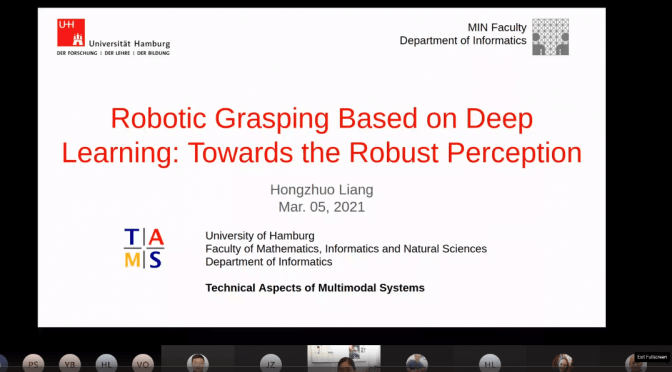 Universität Hamburg Hosts ULTRACEPT Sandpit Session - Robotic Grasping based on Deep Learning: Towards the Robust Perception