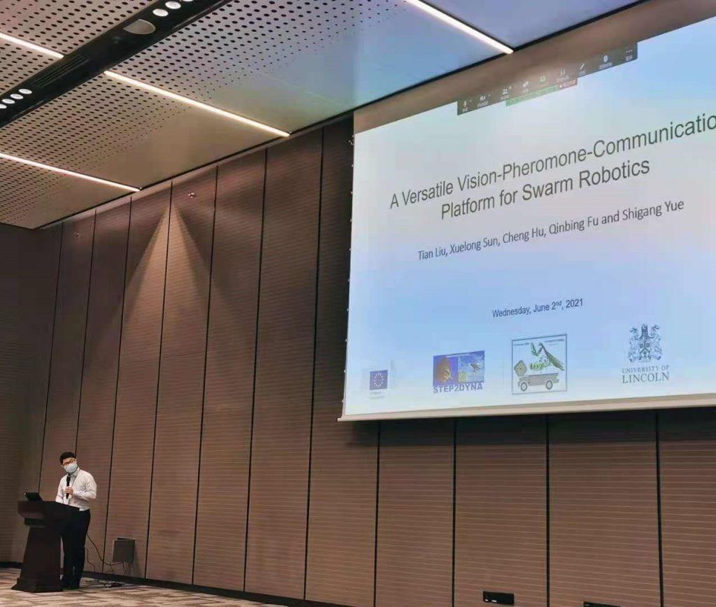 Tian Liu presenting at ICRA 2021
