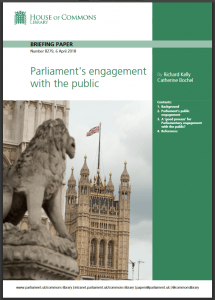 Parliament's engagement Library briefing