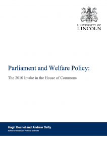 Parliament and Welfare Policy: the 2010 Intake
