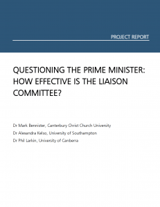 Questioning the Prime Minister cover