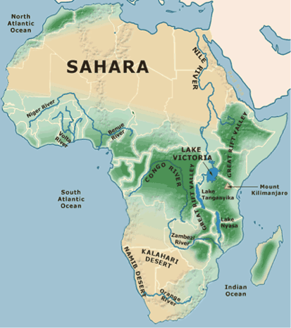 African Tourism Recreation Africa - Regions of africa