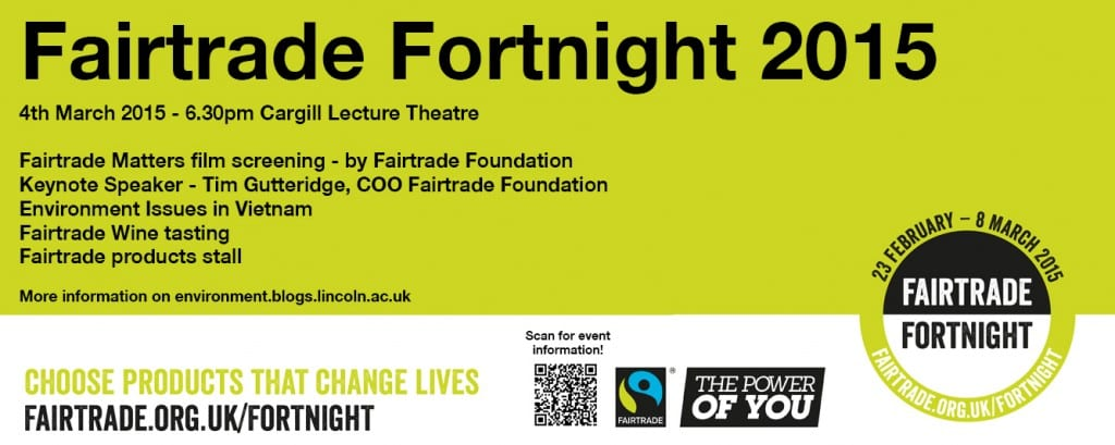 Twitter Banner for Fairtrade Fortnight 4th March Event