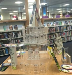 Dry January display in Lincoln public library
