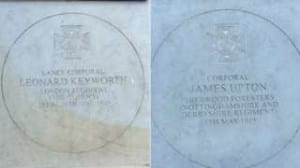 The Memorial Stones Of Leonard Keyworth and James Upton. (Adam Cockerill, 2016)