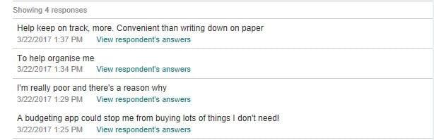 Q1 responses