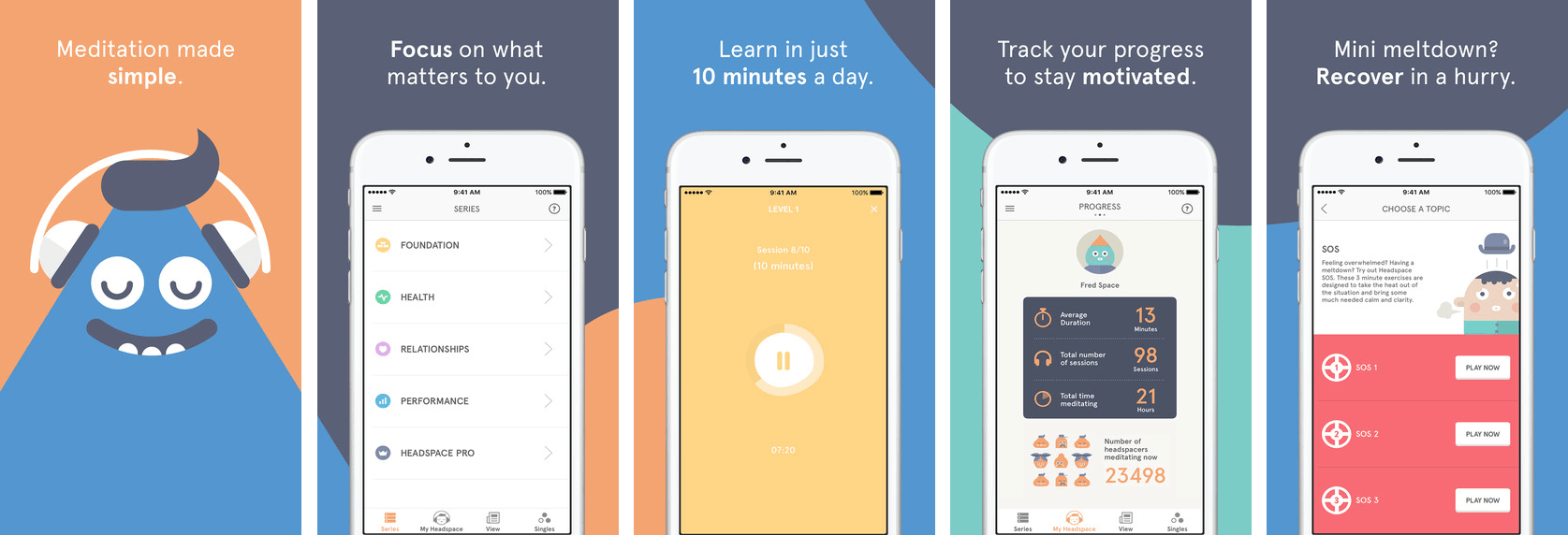 Headspace App Screen