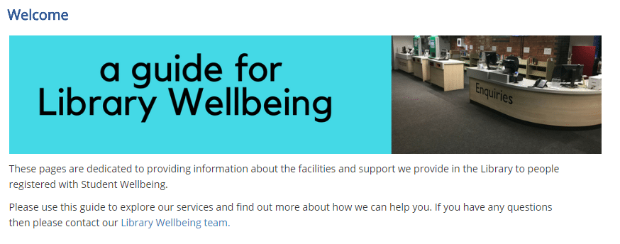 Graphic linking to wellbeing guide