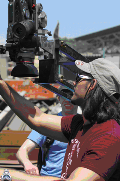 Khurrum directs on location