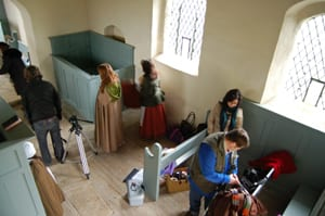 On location in Goltho Church