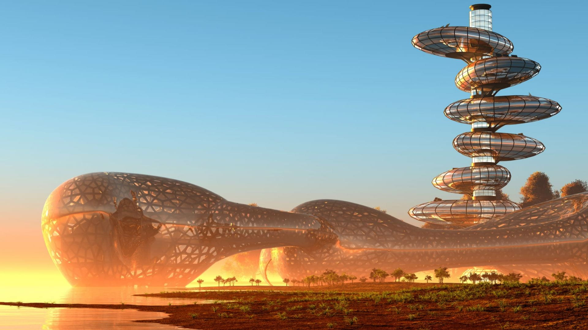Futurist landscape.