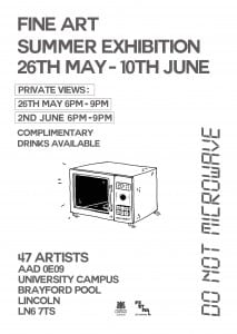 Fine Art Degree Show Poster 17