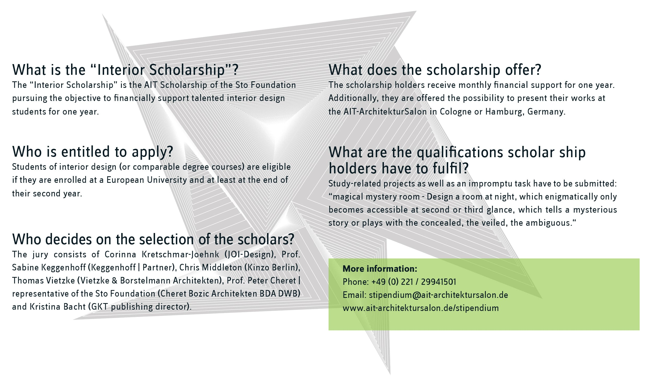Scholarships for interior design students