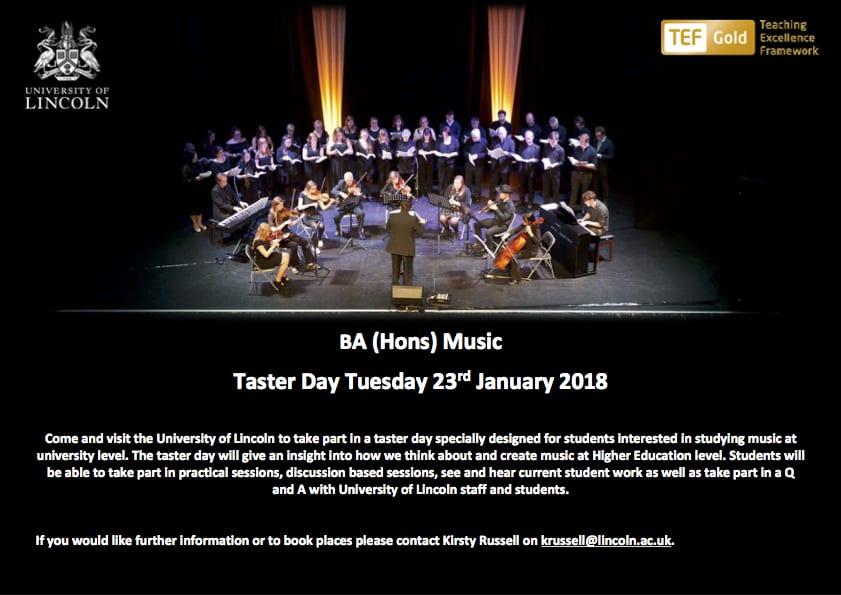 BA Music Taster Day