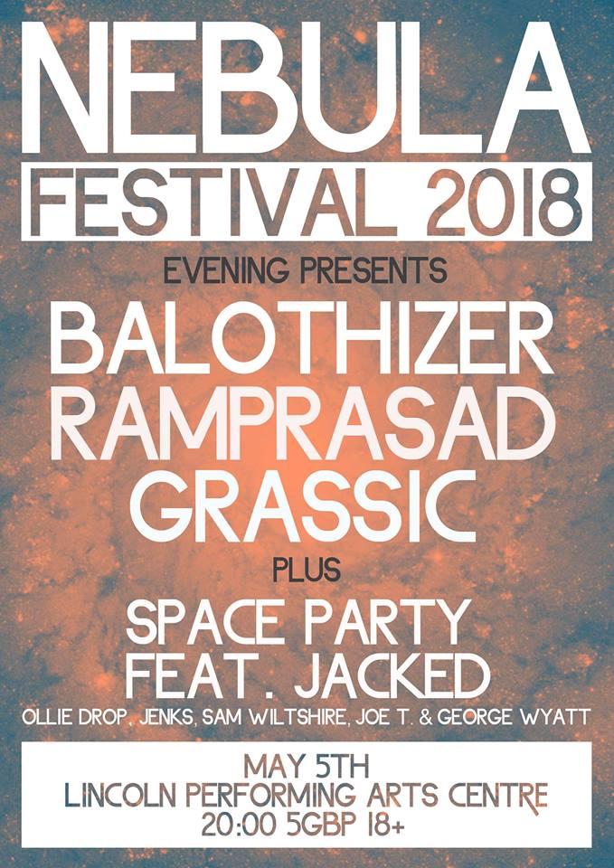 Nebula Festival rock gig poster