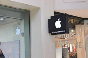This is a image of the apple store, which produces the popular iPhone.