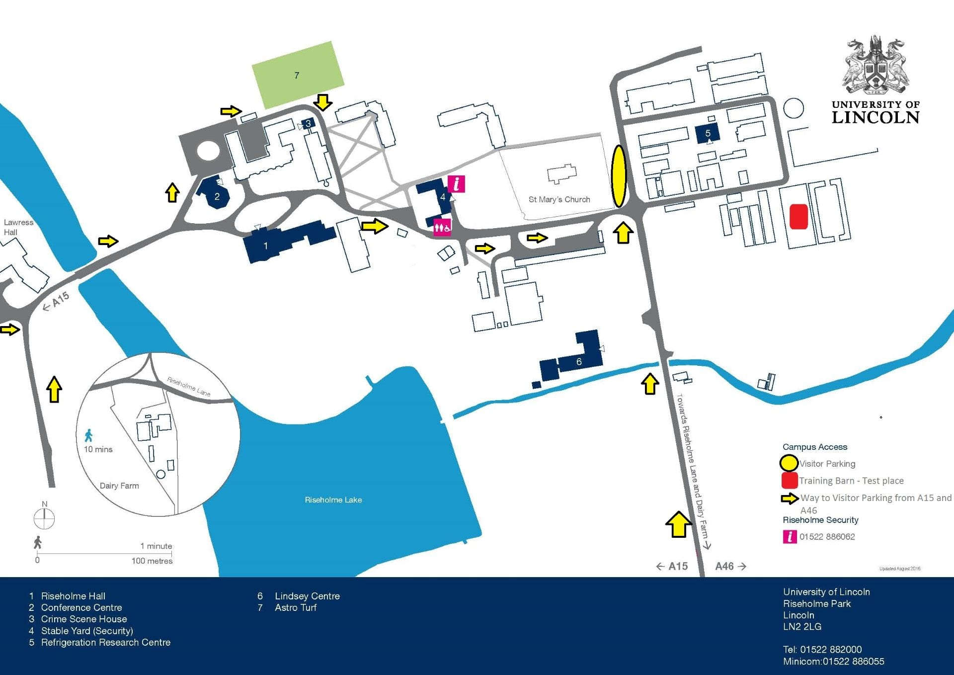 Riseholme campus - Parking space and test place