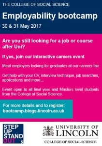 Employability bootcamp flyer 2017