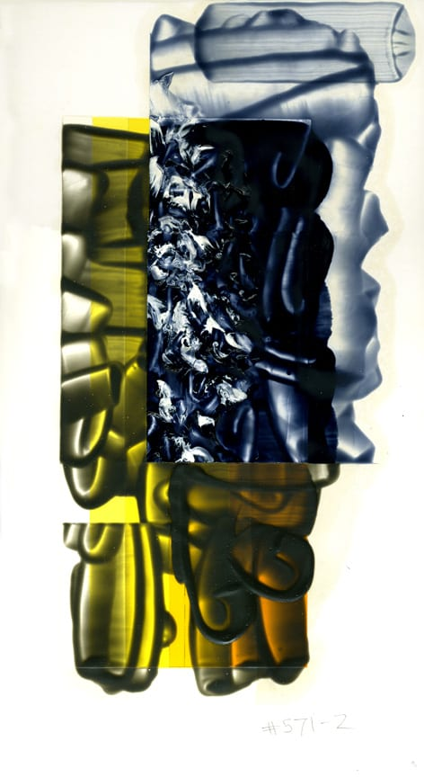 David Reed Color study#25, 2010 Oil and alkyd on illustration board 16 5:8 x 9 11:16 inches  Current retail price $6,000
