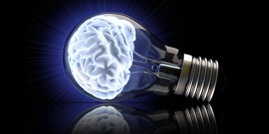 Image of a brain in a light bulb to illustrate best practice.