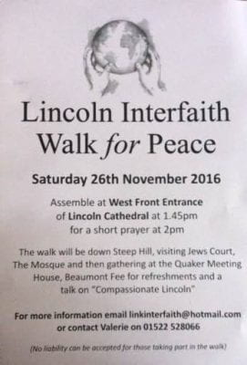 Lincoln Interfaith walk 2016