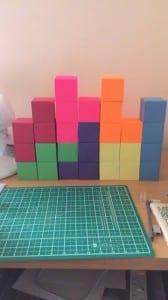 Cardboard blocks