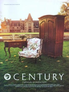 Century Furniture Chardeau Collection 1983 Ad. Furniture. Stock Number: 21484.