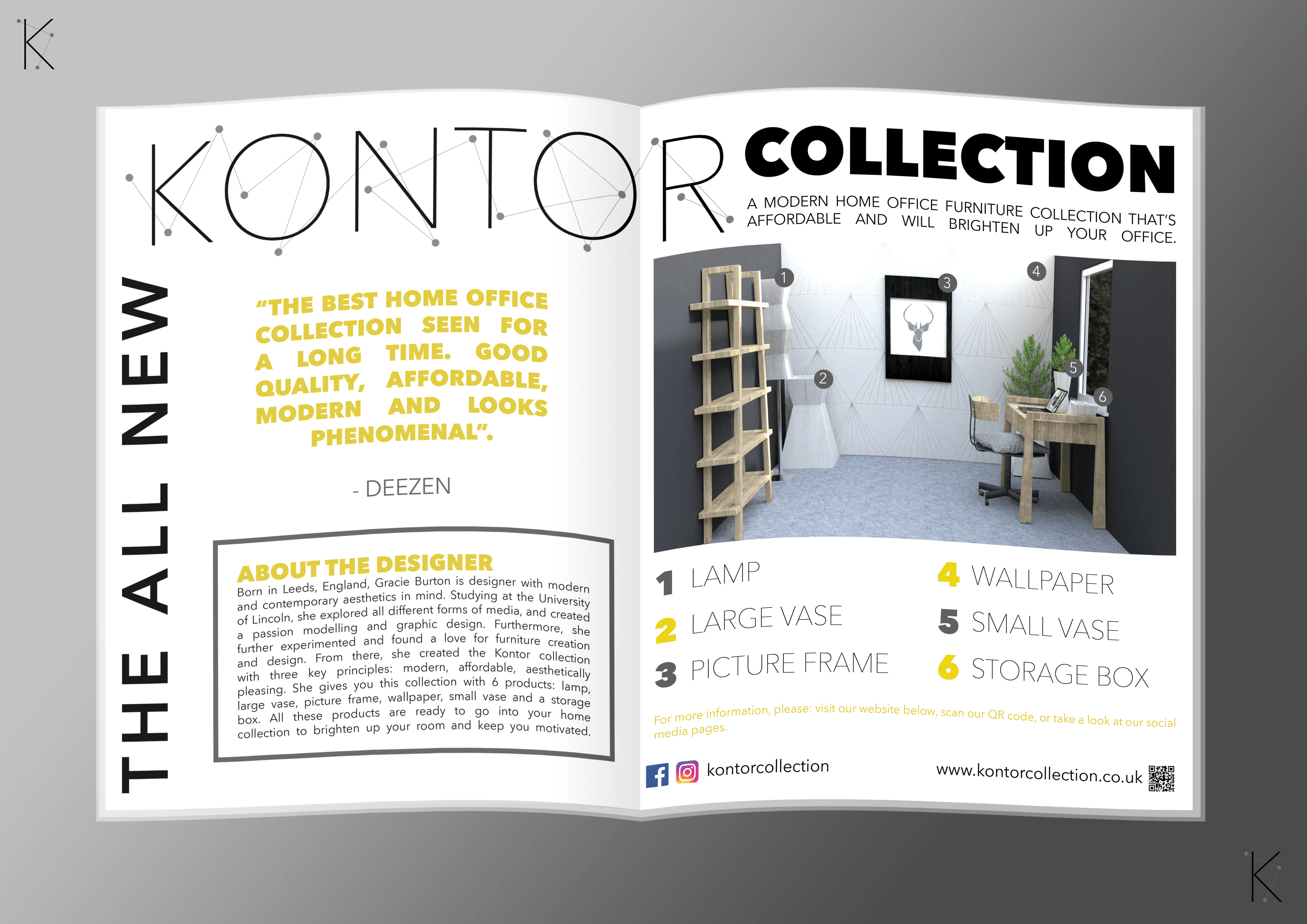 Double Page Magazine Spread Kontor (PRESENTED)