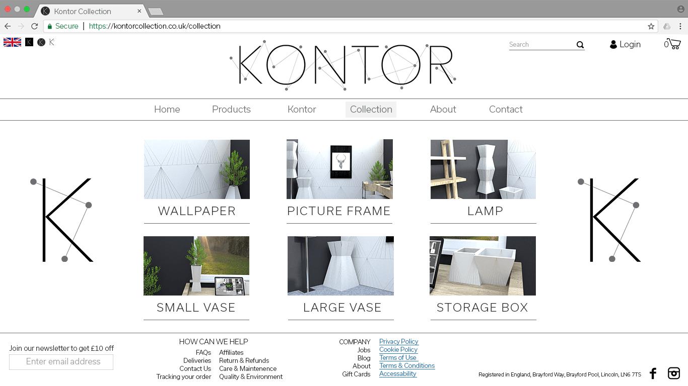 Kontor Webpage Page 2