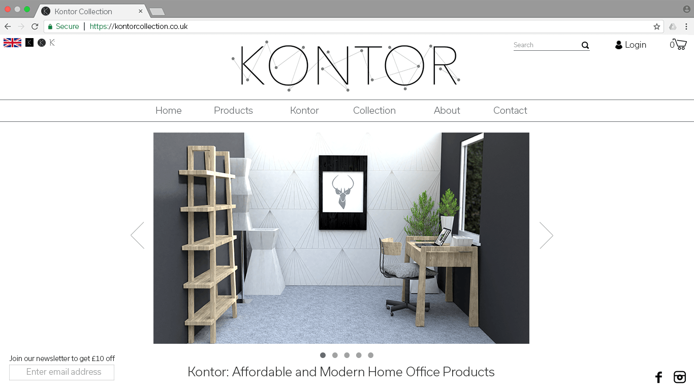 Kontor Webpage