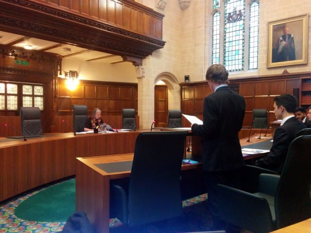 Senior Counsel for the Respondent, Michael Ruddick, presenting his case to Lady