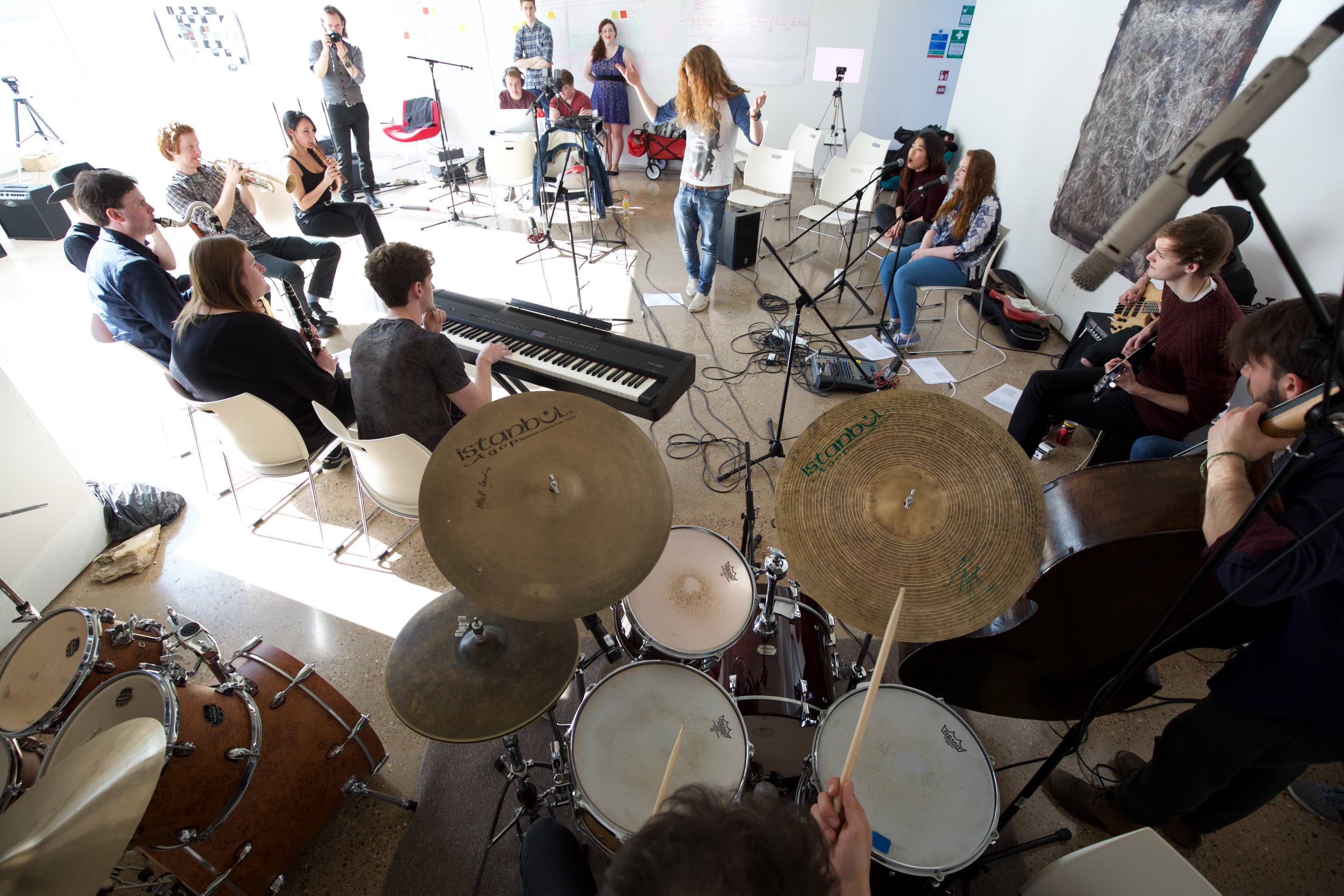 Free Improvisation workshop with Valia Calda | BA Music - Levels 1 & 2 | Credit: Lincoln School of Fine and Performing Arts
