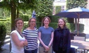 Left to right: Hanne Creupelandt, Sibyl Anthierens, Susan Chipchase and Coral Sirdifield