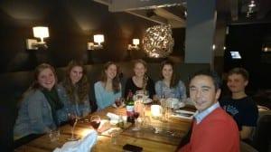 Soemitro Poerbidipoero and students from the Hogeschool van Amsterdam