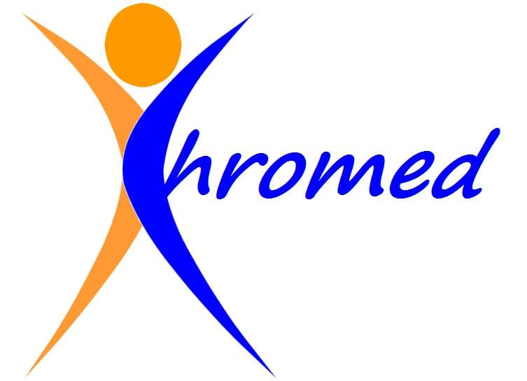 chromed logo