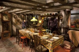 The set of the Weasleys' kitchen used in the Harry Potter films