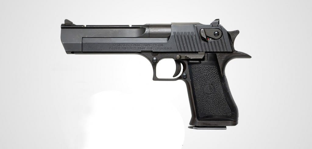Pictured is the Desert Eagle semi automatic pistol, made famous by Agent Smith in the Matrix films.