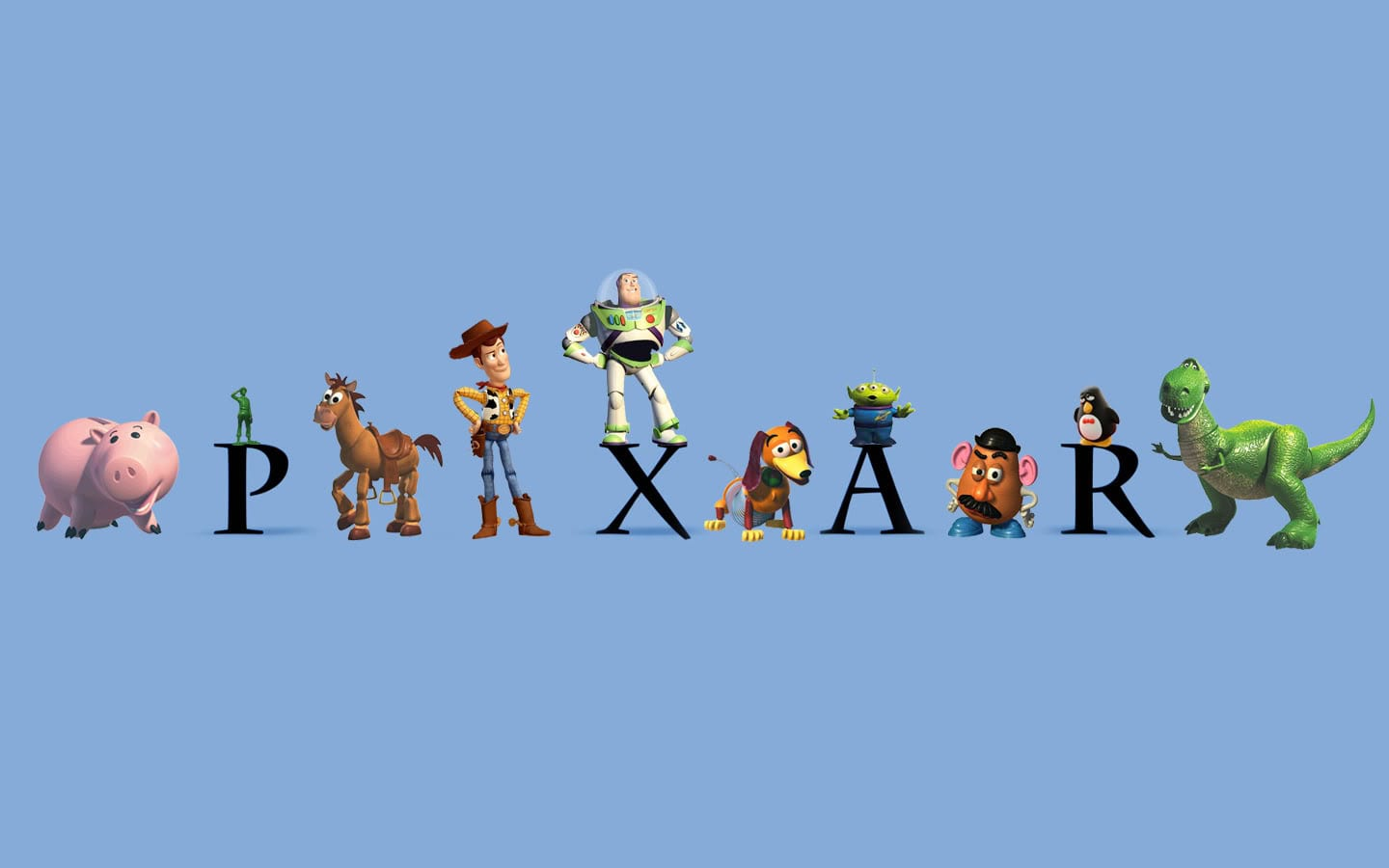 The Pixar logo is visible with various Pixar characters surrounding it.