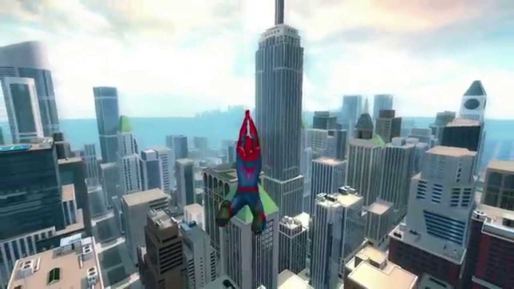Image shows a screenshot of the video game, Spiderman 2