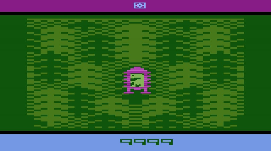 Image shows a screenshot of the video game, E.T The Extra Terrestrial.